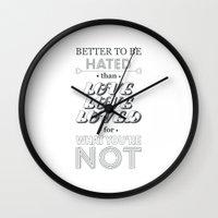 I Am Not A Robot ; Marin… Wall Clock