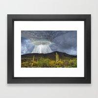 Monsoon Storm Over Black Mountain Framed Art Print
