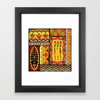 African Ornamental Pattern Framed Art Print