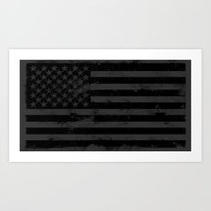American Brain Flag Art Print
