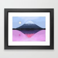 Two Fuji - Painting Framed Art Print