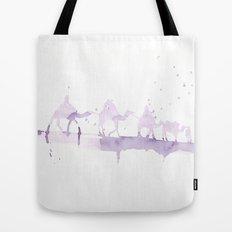 Watercolor landscape illustration_Sahara Tote Bag