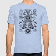 Legend Of Zelda Inspired… Mens Fitted Tee Tri-Blue SMALL