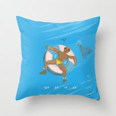 floating on the water Throw Pillow