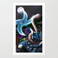 Frog ninja! Water Shuriken! Art Print