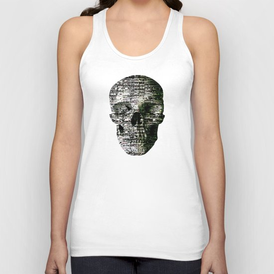 Removing Filters (P/D3 Glitch Collage Studies) Unisex Tank Top