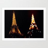 Eiffel Tower(s) Art Print