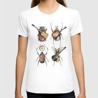 monster T-shirts featuring Meet the Beetles by Eric Fan