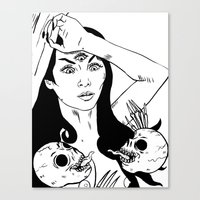 Skull Goddess Canvas Print