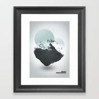 Mt. Everest - The Surrea… Framed Art Print