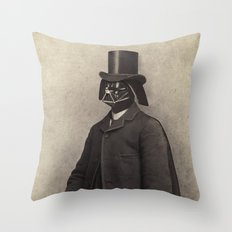 Lord Vadersworth (square format)  Throw Pillow