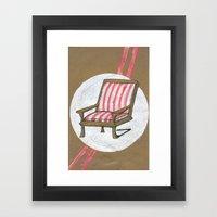 Left Chair Framed Art Print