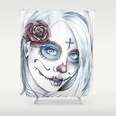 La Bella Muerte  Shower Curtain