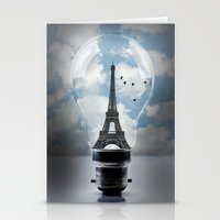 Paris In A Bulb Stationery Cards