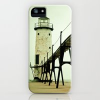 iPhone Cases featuring Manistee Light by Olivia Joy StClaire