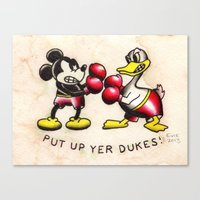 Put Up Yer Dukes Canvas Print