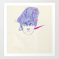 Hair Play 08 Art Print