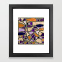 Gaudy Gaudi orange & purple Framed Art Print