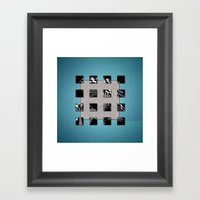 SQUARE AMBIENCE - Blue S… Framed Art Print