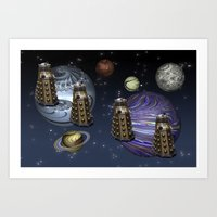 March Of The Daleks Art Print