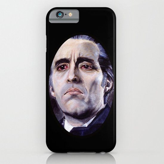 Christopher Lee as Dracula: He is the embodiment of all that is evil. iPhone & iPod Case