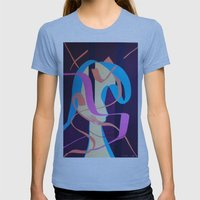 Contemplation Womens Fitted Tee Athletic Blue SMALL