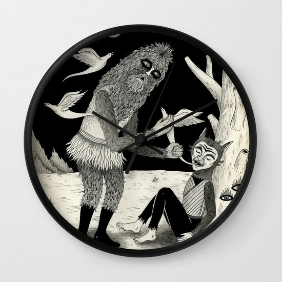 Thievery in the Woods Wall Clock