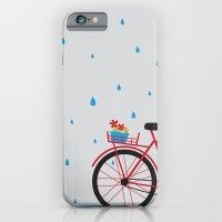 Bicycle & rain iPhone 6 Slim Case