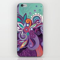 Floral curves of Joy iPhone & iPod Skin