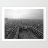 Saint Mark's Square in black and white Art Print