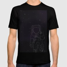 Spaceman Black Mens Fitted Tee SMALL