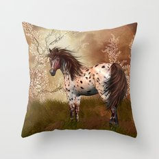 Golden Hour Equine Horse… Throw Pillow