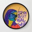 OOPS I GOT WEIRD Wall Clock