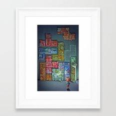 Tetris Tribute Framed Art Print