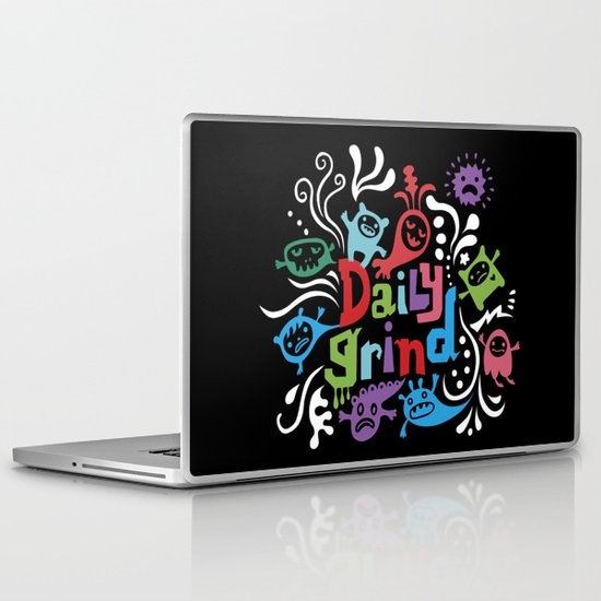 Daily Grind - black Laptop & iPad Skin
