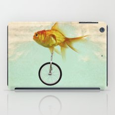 unicycle gold fish -2 iPad Case