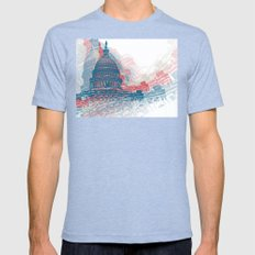 Capitol Crisis Mens Fitted Tee Tri-Blue SMALL