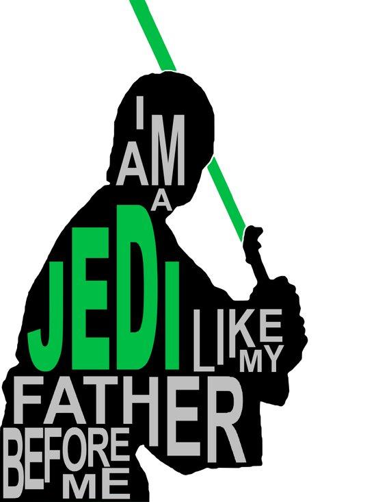I Am A Jedi Art Print