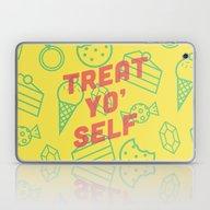 Laptop & iPad Skin featuring Treat Yo' Self by Zeke Tucker