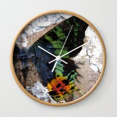 Sunset Moth Wing Abstract Wall Clock