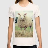 Sheep Womens Fitted Tee Natural SMALL