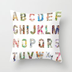 ABC of professions Throw Pillow