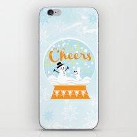 Snow globe friends iPhone & iPod Skin