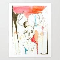 The bald woman Art Print