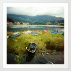 · Camping · Analogical Photography Colour Art Print