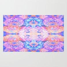Pyschedelic floral Rug