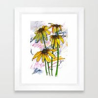Dancing Daisies Framed Art Print