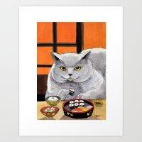 Sushi Cat- Big Fred  Art Print