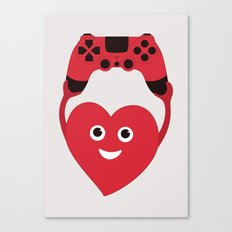 Gaming Heart Canvas Print