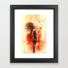 I Drained My Heart And Burn My Soul Framed Art Print